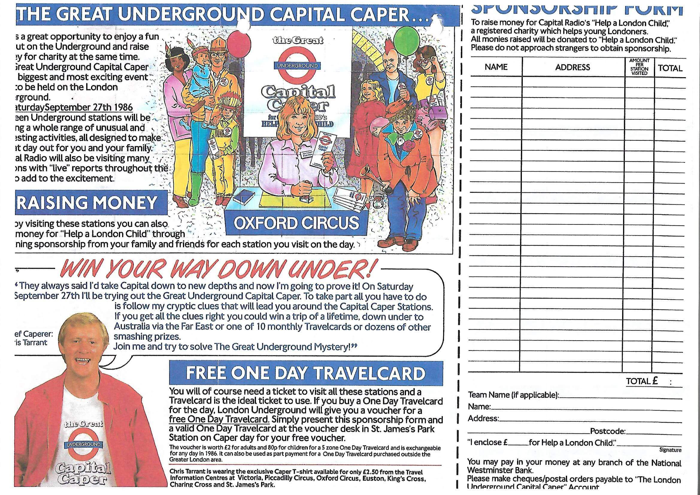 Capital Caper leaflet