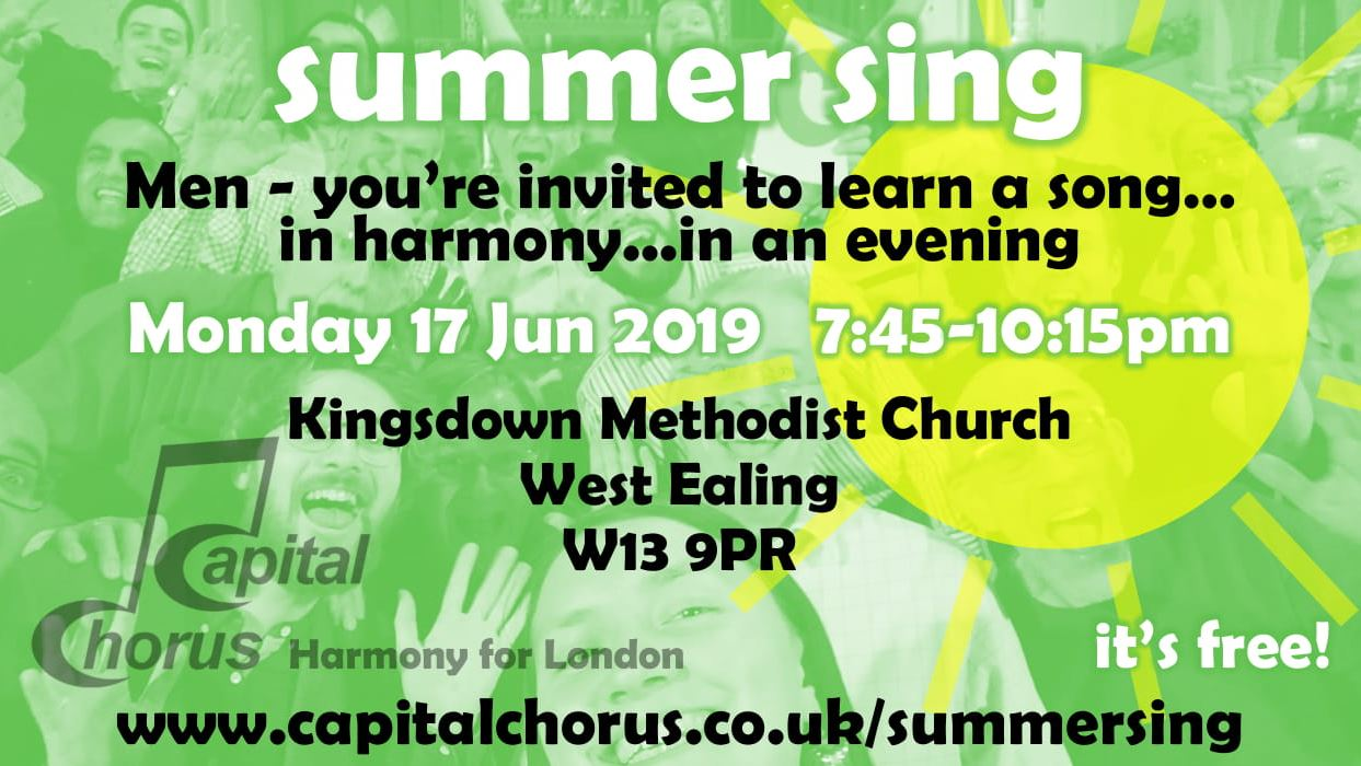 Come and join our Summer Sing event